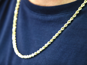 4mm Diamond-Cut 14K Yellow Gold Rope Chain Necklace