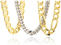 cheap gold figaro chains