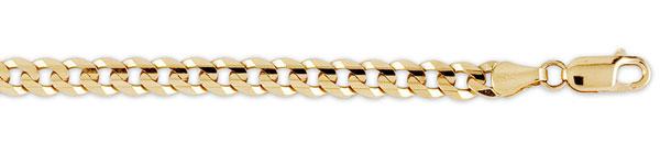 gold curb chains