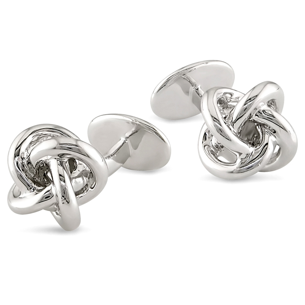 Open Knot Sterling Silver Cufflinks