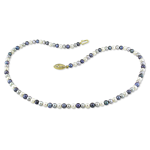4-5mm Round Grey Freshwater Pearl Necklace