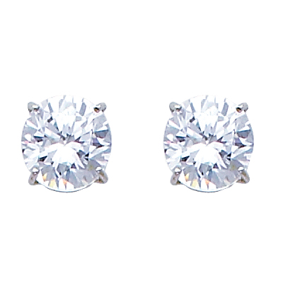 5mm Birthstone CZ Silver Stud Earrings Other birthstones available