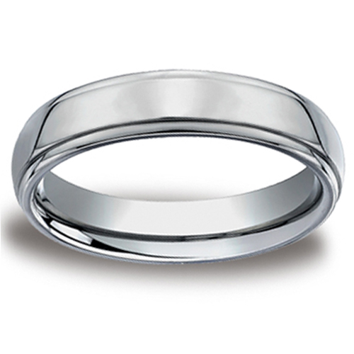 5mm Step Edge Forge Benchmark Titanium Wedding Ring