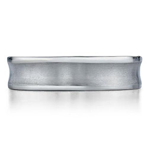 Concave 6mm Benchmark Titanium Wedding Ring