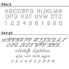 Laser Engraving - Script Print