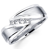 Designer 14K Channel Set Princess Diamond Wedding Ring