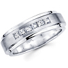 Six Diamond 14K White Gold Princess Diamond Wedding Ring