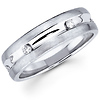 Ladies 14K White Gold Diamond Wedding Ring