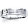 Starburst Setting 14K White Gold Diamond Wedding Band