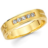 14K Yellow Gold 0.21ctw Channel Set Diamond Wedding Band