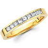 Diamond 14K Yellow Gold Princess Wedding Band