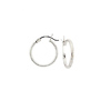 14K White Gold 2mm Hoops Earrings 17mm