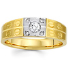 Designer 14K Two Tone Gold Diamond Wedding Band