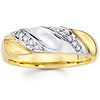14K Two Tone Men's Diamond Wedding Band