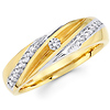 Striped 14K Two Tone Gold Gents Wedding Ring