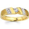 Channel Set 14K Two Tone Gold Designer Wedding Ring