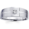 Round Diamond 14K White Gold Men's Wedding Ring