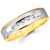 Two Tone Round Diamond 14K Wedding Band