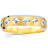 Men's 14K Diamond Shape Round Diamond Wedding Band