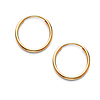 Slender Small 14K Yellow Gold Hoop Earrings