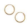 Slender Small 14K Yellow Gold Hoop Earrings