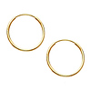 Small Slender 14K Yellow Gold Hoop Earrings 16mm