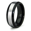 8mm Inlay Black Tungsten Wedding Band