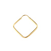 14K Yellow Gold Endless Square Hoop Earrings (1x22mm)