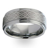 Braid Pattern Laser Engraved Tungsten Wedding Band