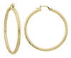Ridged Snap Bar Hoops