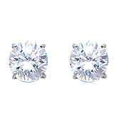 5mm Birthstone CZ Silver Stud Earrings (Other birthstones available)