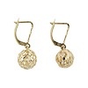 14K Yellow Gold Ball Drop Earrings