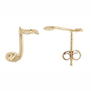 Mini Music Note Earrings
