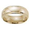 Comfort Fit 8mm Raised Domed 14K Yellow Gold Men's Benchmark Band