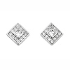 Square CZ Stud in Sterling Silver