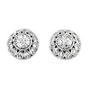 Rounded Silver Pave CZ Earrings