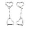 Heart Silver Drop Earring