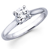14K White Gold Round Diamond Solitaire Rings