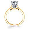 14K Round Diamond Solitaire Engagement Ring (0.20 - 1.50 ct)