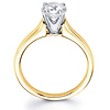 Contour 14K Yellow Gold Round Cut Solitaire Diamond Engagement Ring