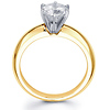 Rounded Solitaire 14K Yellow Gold Round-Cut Diamond Engagement Ring