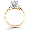 Circle Design Tapered 14K Gold Round Diamond Engagement Ring (0.20 - 1.50 ct)