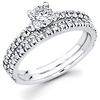 Round Diamond 14K White Gold Bridal Set (0.69 ctw)