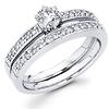14K White Gold Diamond Wedding Ring Set 0.68 ctw