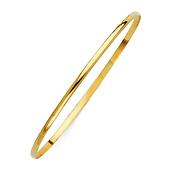 2mm Solid 14K Yellow Gold Bangle Bracelet