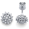14K Gold Diamond Earrings .71ctw