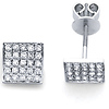 14K Diamond Stud Earrings .55ctw
