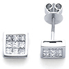 14K Diamond Stud Earrings .96ctw