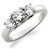 3 Stone Platinum Engagement Ring (1.00 ctw)
