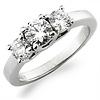 3 Stone Platinum Engagement Ring